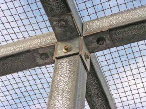 Closeup photo of centre angle bracket fixing